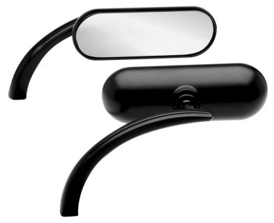 Purchase Arlen Ness Mirrors Mini Oval Black Harley Davidson motorcycle in Ashton, Illinois, US, for US $109.00
