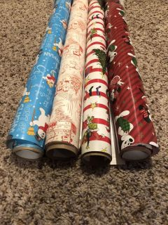Hallmark wrapping paper -used to wrap gifts from Santa so can t use again -euc!