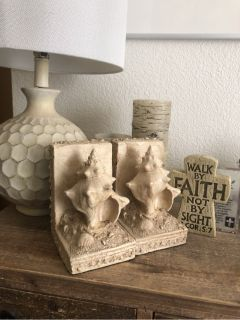 Nautical Shell Bookends