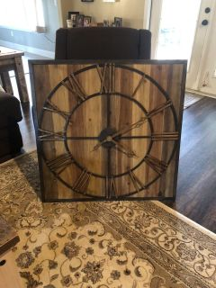 Wood and metal clock from Kirkland s