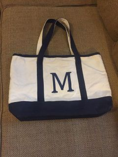 Tote Bag with Embroidered M