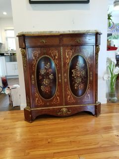 Buffet table with marble top