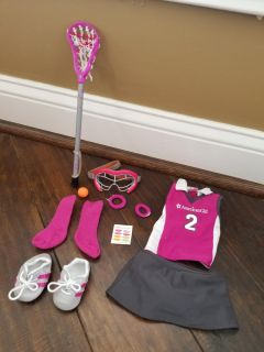 AMERICAN GIRL DOLL Lacrosse Outfit and Gear