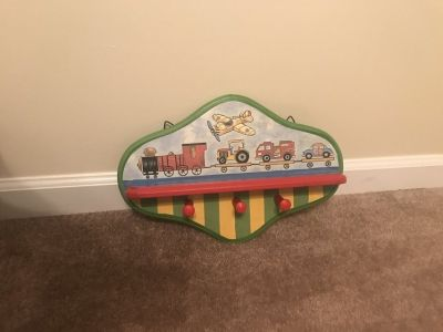 Planes, trains and cars decorative shelf