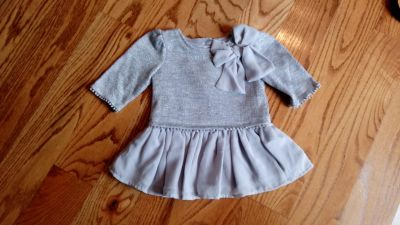 Silver/grey ruffle dress/tunic. Excellent, like new condition. Size 24M
