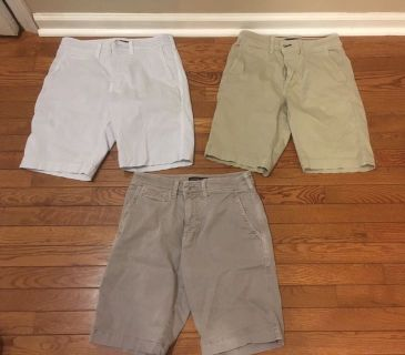 AE Flex shorts size 28 $10 each or all for $25