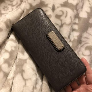 Marc Jacobs grey leather wallet