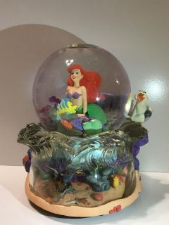 "Disney Store Little Mermaid Snow-globe ""Under the Sea"" *cross posted"