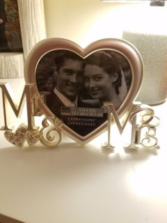 4 4 Mr. and Mrs. picture frame silver