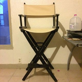 $110, Bar height directors chairs blacktan