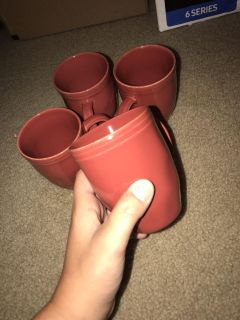 Rachel Ray - red mugs (pick up only)