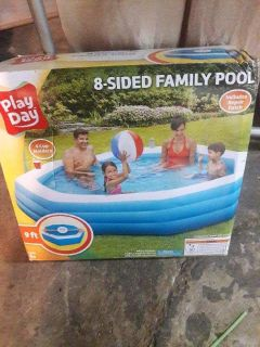 Eight sided family octagon pool