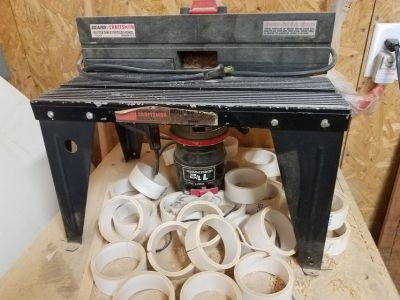 1 1/2 HP Router, Router Table, and Fence