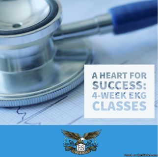 EKG Technician in only 4 weeks. Sign up now classes are starting soon.