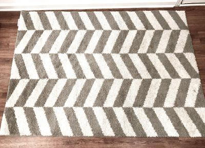 Large Grey and White Space Rug
