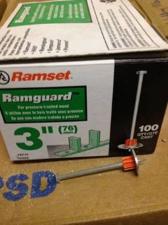 3 Ramset Nails box of 50 plus box of .22 level 4 power drivers
