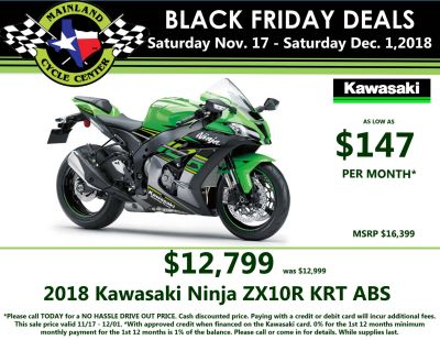 2018 Kawasaki NINJA ZX-10R ABS KRT EDITION SuperSport Motorcycles La Marque, TX
