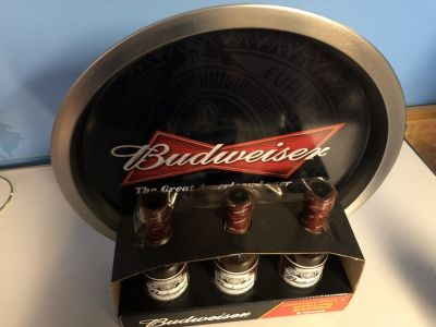 Budweiser Tray and Sauces