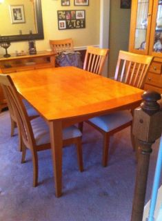 Kitchen table with buffet table