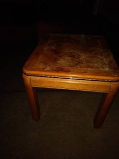 Square parquet coffee end table