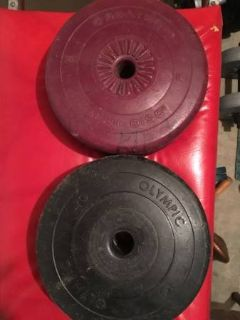FOUR 10 POUND FREE WEIGHTS