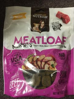 12 ounce bag of Rachael Ray nuTrish meatloaf morsels dog treats