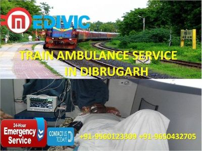 Get Risk-Free and Prime Shifting Train Ambulance Service in Dibrugarh by Medivic