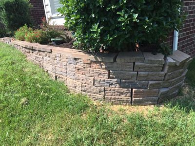 Stacked block wall
