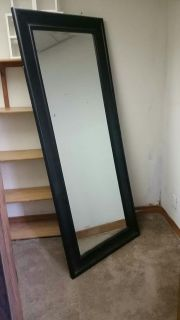 Beautiful Lg Black Mirror 79 inches tall x 33 inches wide Pottery Barn