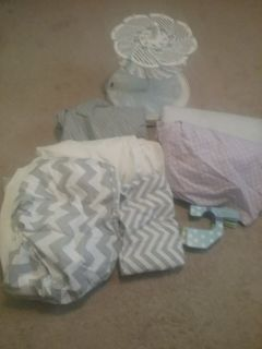 Crib Sheets and Bottle Washer