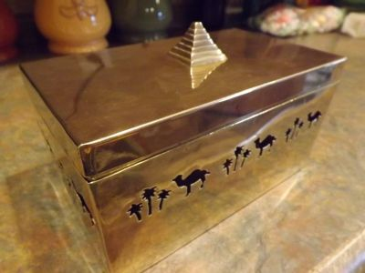 Camel brass box