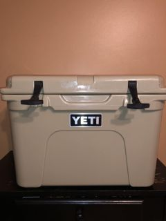 Yeti 35 cooler. Tan. Used once
