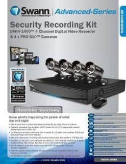 $200, $200 New Swann 4channel DVR Security System