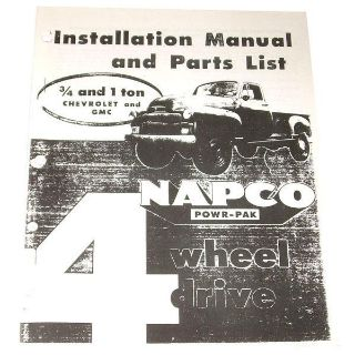 Buy 1955 1956 1957 1958 1959 NAPCO Installation Manual & Parts For Chevy GMC Truck motorcycle in Denton, Texas, US, for US $6.50