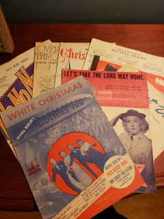 Set of 9 Vintage piano booklets