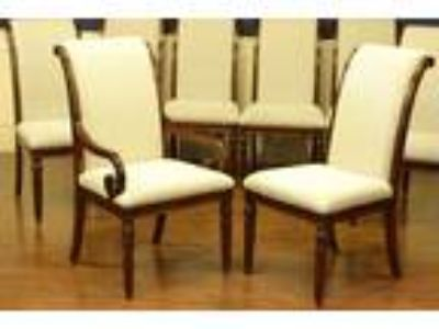 Leighton Hall Traditional Regency Style 8 Dining Chairs