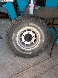 (2) Ulta Wheels 15x7.5 Wide 5 VW with 32x11.50x15
