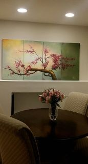 Beautiful Cherry Tree Blossoms Canvas