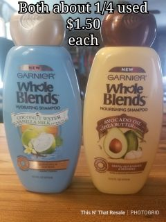 Whole blends shampoos- about 25% used