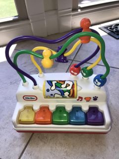 Little Tikes musical baby activity toy with piano like buttons EUC