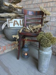 Fall Chair with Lantern