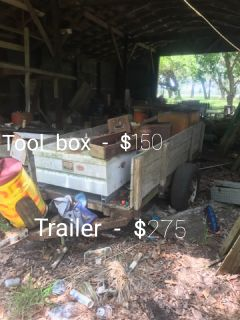 trailer and tool box