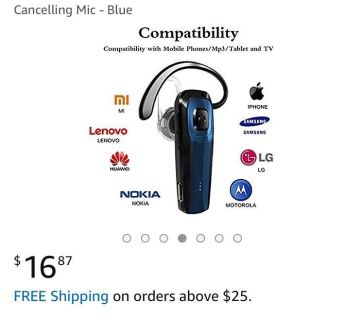 New in box- Noise Canceling Bluetooth
