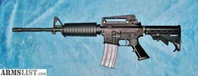 """For Trade: 5.56mm 16"""" M4 semi-auto AR15"""
