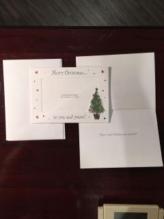 (3) 4x6 photo Christmas cards with (4) envelopes