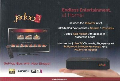 Jadoo TV 3S Full 1080P HD Box with all accessories