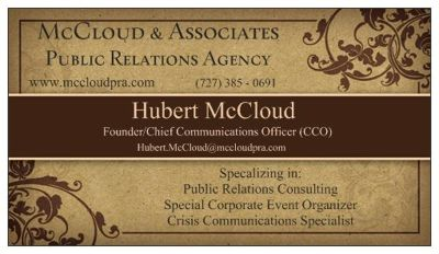 McCloud & Associates Public Relations Agency - PR/Special Event Organizer