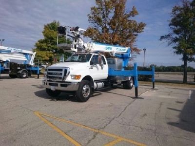 SOCAGE 94TW SIGN CRANE FOR SALE - 2016 FORD F-750 CHASSIS -UNDER CDL !!