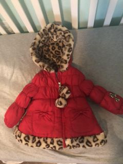 18 Month Red Puffer Coat