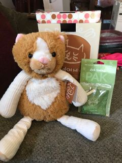 Newscentsy scratch the cat plush stuffed animal with sent